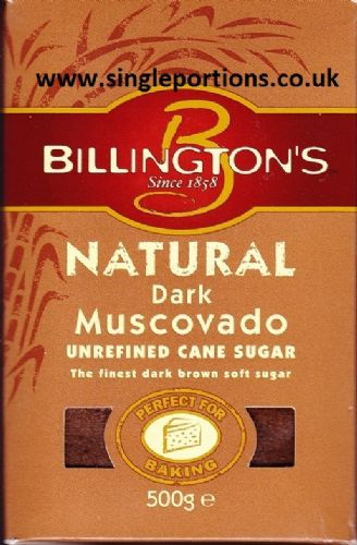 Natural Dark Muscovado unrefined cane sugar - BULK PORTIONS